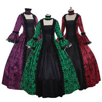 Womens Renaissance Dresses Gothic Costume Princess Medieval Victorian Ball Gown