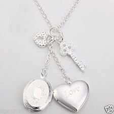 Sterling Silver Lockets Necklace