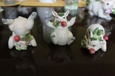Fitz and Floyd French Market Porcelain Pig Tumblers Set of 3
