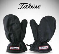 New 2019 Titleist Golf Mittens Winter Gloves Winter Wear Hand Warmer Pair Black
