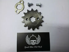 14 TOOTH TEETH FRONT SPROCKET & WASHER 420 17MM INNER PIT DIRT QUAD BIKE QUALITY