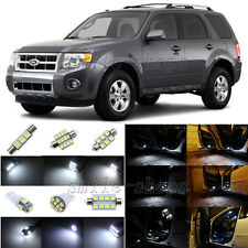 12pcs Xenon White LED Interior Light Package Fit For 2008-2012 Ford Escape