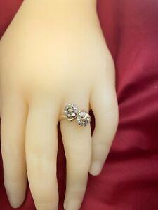 Early Victorian Diamond & Gold Twist Ring