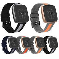 Canvas Sportivo Orologio Cinturino Fibbia Per Fitbit Versa/Lite/Versa 2 Watch