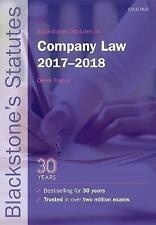 Blackstone's Statutes on Company Law 2017-2018 (Blackstone's Statute-ExLibrary