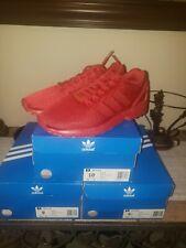 New. Adidas Originals ZX Flux Triple Red Torsion Mens Running  Sz. 10 S32278