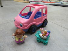 FISHER PRICE - LITTLE POEPLE - voiture familiale - family car - pink rose