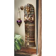 "King Tut Sarcophagus Design Toscano Exclusive 47"" Hand Painted Wall Sculpture"