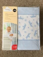 "Blue Patchwork Blackout Tab Top Curtains - Baby Boy - Nursery -  66"" x 54"" - New"