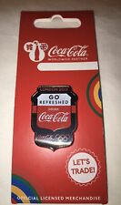 London 2012 Olympics Collectors Pin Badge 'Go Refreshed Drink Coca Cola' NEW