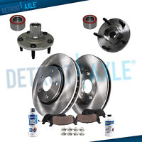 Front Wheel Hub 278mm Disc Brake Rotors & Pads for 2001-2007 Ford Escape Tribute