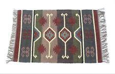 Handwoven Floor Kilim Rug Jute Area Rugs Hand loomed Rustic Rugs Indian 2x3-11