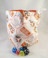 Star Wars Dice Bag - BB8 Cotton Bag - Drawstring Tile Pouch - Destiny Bag DND