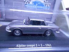 RENAULT Alpine A108 Coupe 2+2 1961 silber grau met Sonderpreis Eligor Hach 1:43