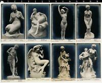 Lot of 10 Beautiful Female Nude Statue Real Photo Postcards RPPC