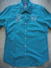 Camisa La martina St. Petersburg col. azul petróleo en talla L. Slim fit