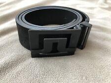 J.Lindeberg Mens Slater 40 2.0 Black Leather Golf Belt 90cm 36� $105 Msrp