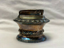 Vtg Silver Toned Ronson Waldorf Table Lighter Made In USA