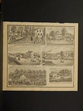 Ohio Cuyahoga County Map Residence Store Samuel Sears  Engraving  1874  K11#92