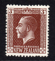 New Zealand 3d Stamp c1915-30 Mounted Mint Hinged (6698)