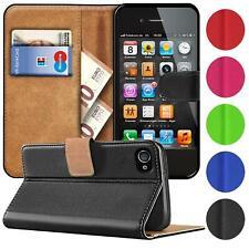 Book Case für iPhone 4 4s Hülle Flip Cover Handy Tasche Schutz Hülle Etui Schale