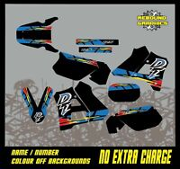 YAMAHA DT 125 1991 TO PRESENT FULL GRAPHICS KIT-DECALS-STICKERS-MX-DT