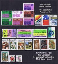 Australian Decimal Stamps Complete 1971 Set  (22 stamps) SPECIAL PRICE