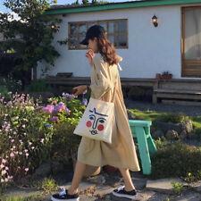 Casual 100% Cotton Adjustable Strap Canvas Shoulder Tote Bag Purse Crossbody bag