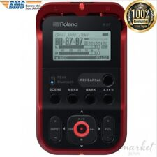 NEW Roland linear PCM recorder (red) with external SD card slot R-07-RD JAPAN