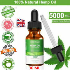 30ML Organic Herbal 5000mg Hemp Extract Oil Drops For Pain Relief Sleep Aid-RO