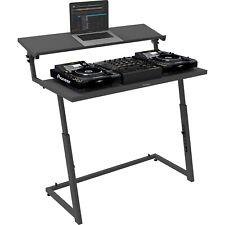 Antoc DJ-Stand DJS-44 - portabler DJ-Tisch mit extra breiter Laptop Ablage