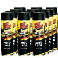 Autolack Rallye Lack Spraydose 500ml Fast Finish schwarz matt 12 Stück