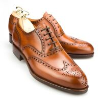 CARMINA Wingtip Oxford Forest Last 813 Brown Leather UK 8, US 8.5 $450