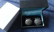 MINAS Brown/cream Harris Tweed 100% Wool Cufflinks 20mm