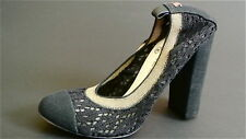 CHANEL Stretch Crochet Lace Fabric Pumps  Heels Size 39 NEW