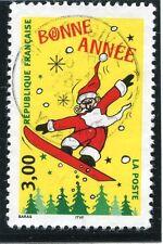 STAMP / TIMBRE FRANCE OBLITERE N° 3202 PERE NOEL SUR SURF