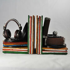 Pair of Book Ends | Vintage Record Player & Headphones