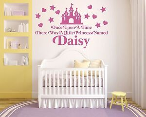 Once Upon A Time, Princess Personalised wall art vinyl decal sticker