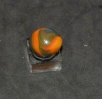 Unidentified Rare Handmade Teardrop Swirl Marble Approx, Size .828 x.703  MINT!