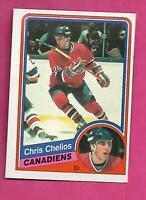 1984-85 OPC # 259 CANADIENS CHRIS CHELIOS  ROOKIE NRMT-MT CARD (INV# D5032)