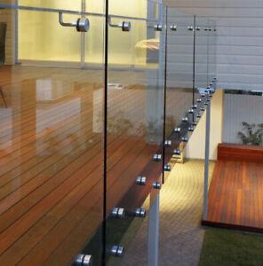 Adjustable Offset Round Steel Glass Standoffs for Frameless Glass Balustrade