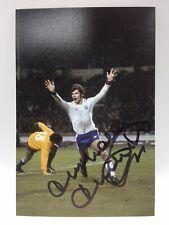 Rare Malcolm Macdonald Angleterre Signé Photo + COA Autographe Arsenal Newcastle