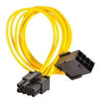 """8-pin PCIe Power Verlängerungskabel Für GPU Grafikkarte PCI-Express PCI-E 8""""20cm"""