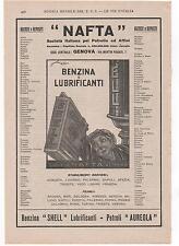 Pubblicità 1927 SHELL BENZINA AUTO CAR GENOVA advert werbung publicitè reklam