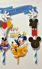 Mickey Mouse Disney Birthday Cup Cake Toppers