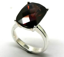Ring *Free Express Post In Oz* Sterling Silver Brown Rectangle Cubic Zirconia