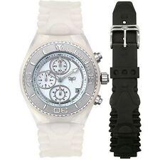 "TechnoMarine ""CRUISE"" WHITE CSX55 *BRAND NEW* Chronograph Watch with extra strap"