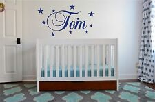 Personalised Children Stars Name Son Daughter Nursery Sticker Wall Decal Kids