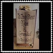 Nan & Grandad. Folded Book Art Folding PATTERN ONLY #1215