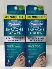Hyland's Earache Drops 20% More Free 0.40 Fl. Oz. X 2 Bottles Relieves Ear Pain